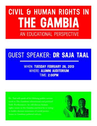 Civil and Human Rights in the Gambia- An Educational Perspective